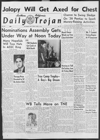 Daily Trojan, Vol. 46, No. 112, April 12, 1955