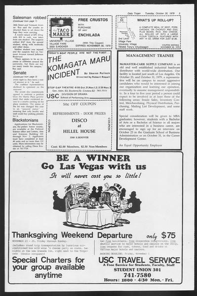 Daily Trojan, Vol. 87, No. 32, October 30, 1979