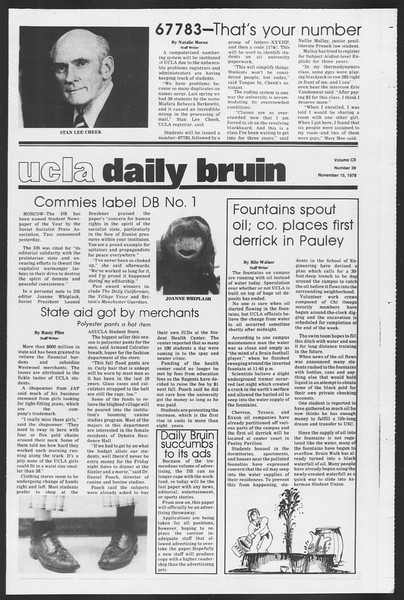 Daily Trojan, Vol. 75, No. 38, November 15, 1978