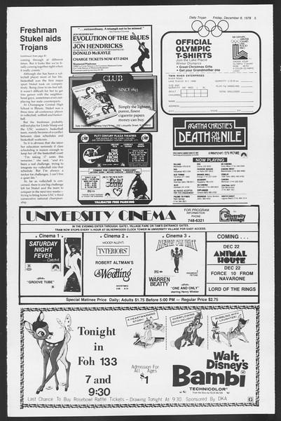 Daily Trojan, Vol. 75, No. 51, December 08, 1978