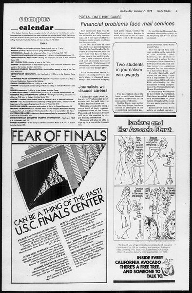 Daily Trojan, Vol. 68, No. 62, January 07, 1976