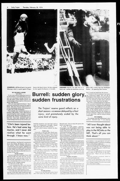 Daily Trojan, Vol. 66, No. 80, February 28, 1974