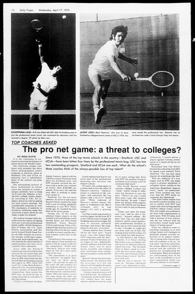 Daily Trojan, Vol. 66, No. 107, April 17, 1974