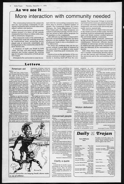Daily Trojan, Vol. 68, No. 56, December 11, 1975