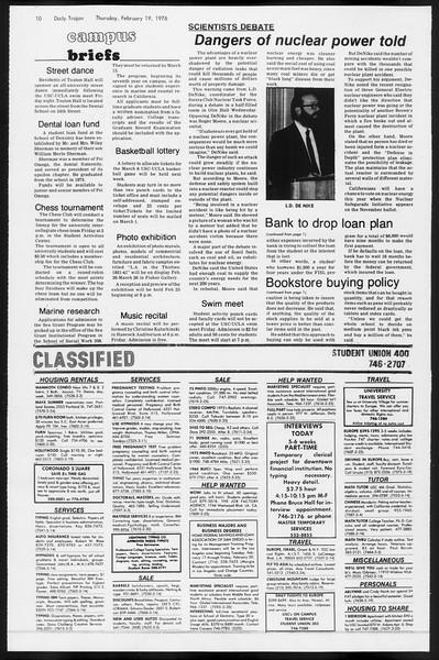 Daily Trojan, Vol. 68, No. 76, February 19, 1976