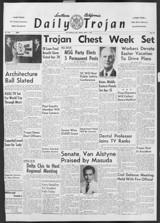 Daily Trojan, Vol. 46, No. 110, April 01, 1955