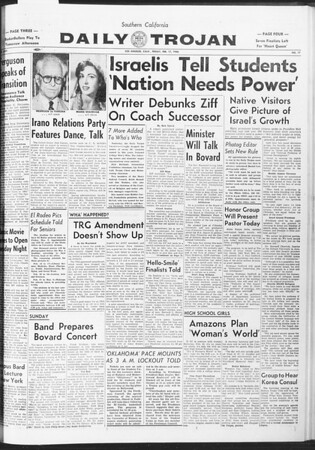 Daily Trojan, Vol. 47, No. 77, February 17, 1956