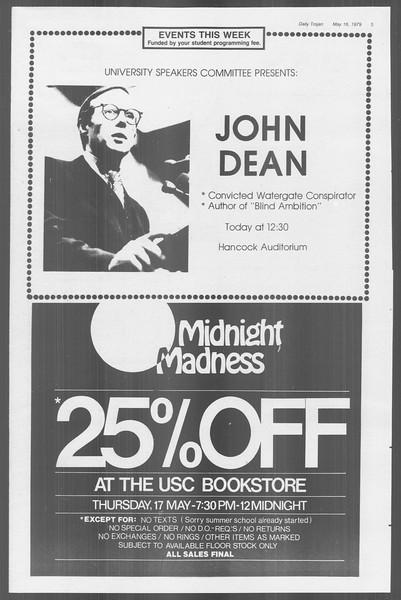 Daily Trojan, Vol. 76, No. 61, May 16, 1979