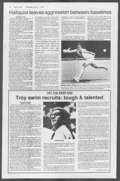 Daily Trojan, Vol. 73, No. 62, May 17, 1978