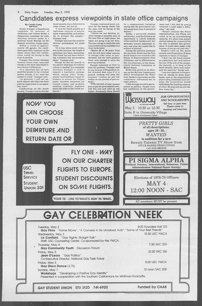 Daily Trojan, Vol. 73, No. 52, May 02, 1978