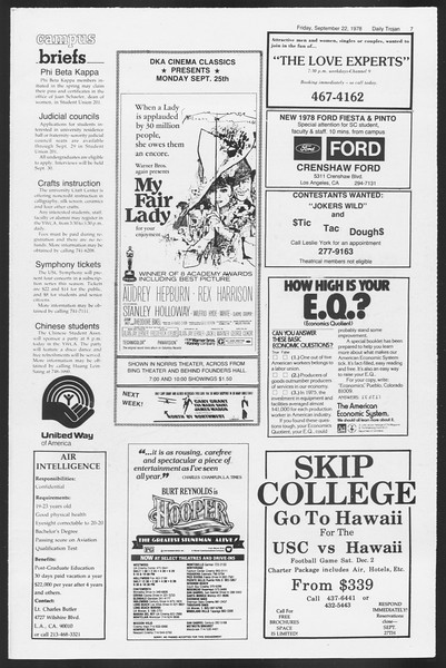 Daily Trojan, Vol. 75, No. 5, September 22, 1978