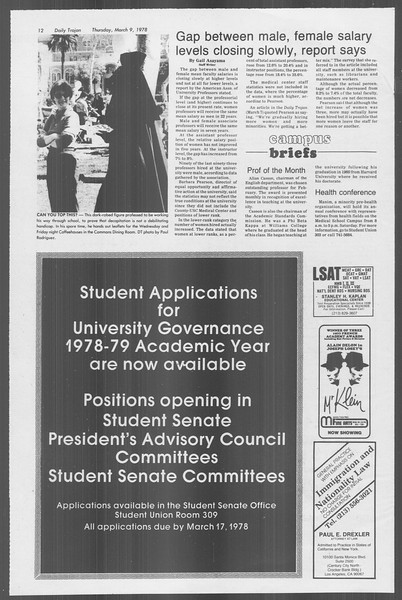 Daily Trojan, Vol. 73, No. 21, March 09, 1978