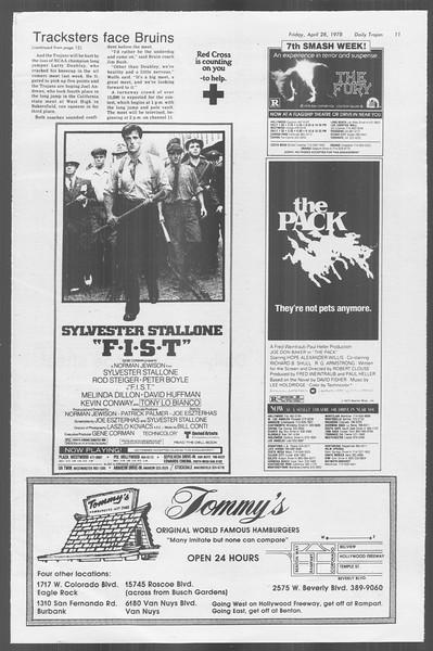Daily Trojan, Vol. 73, No. 50, April 28, 1978