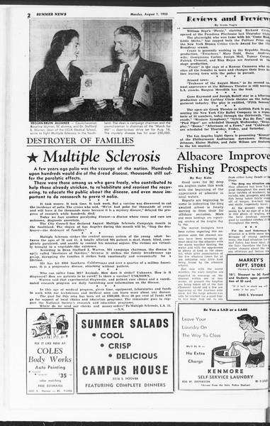 Summer News, Vol. 10, No. 13, August 01, 1955
