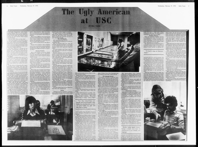 Daily Trojan, Vol. 67, No. 75, February 19, 1975