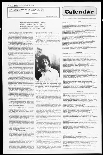 Daily Trojan, Vol. 66, No. 98, March 26, 1974