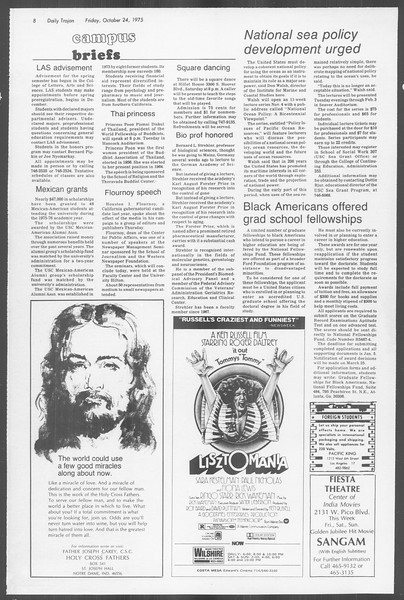 Daily Trojan, Vol. 68, No. 28, October 24, 1975