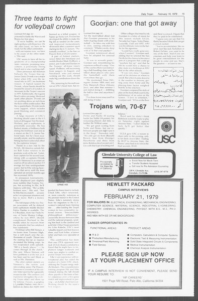 Daily Trojan, Vol. 76, No. 9, February 16, 1979