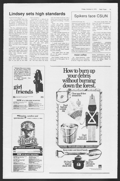 Daily Trojan, Vol. 75, No. 14, October 06, 1978