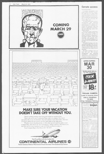 Daily Trojan, Vol. 76, No. 27, March 20, 1979