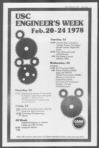 Daily Trojan, Vol. 73, No. 9, February 17, 1978
