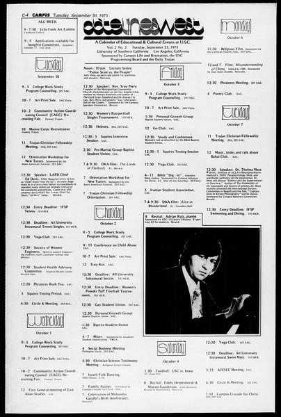 Daily Trojan, Vol. 68, No. 11, September 30, 1975
