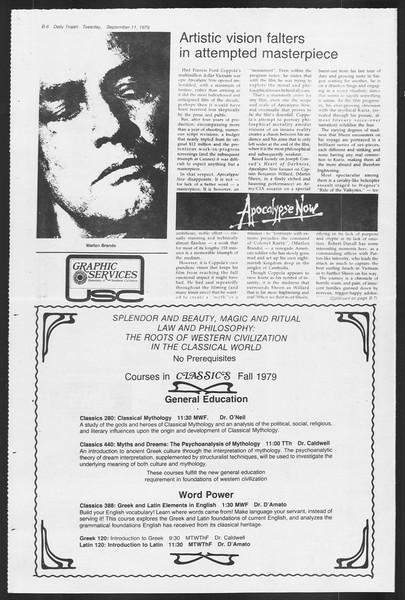 Daily Trojan, Vol. 87, No. 1, September 11, 1979