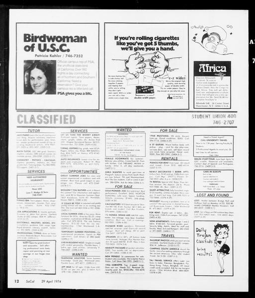 SoCal, Vol. 66, No. 115, April 29, 1974