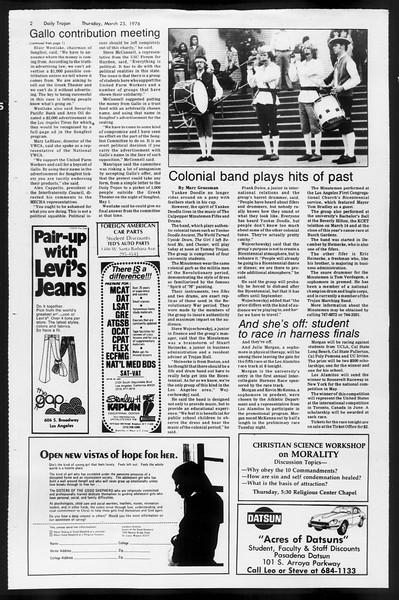 Daily Trojan, Vol. 68, No. 101, March 25, 1976