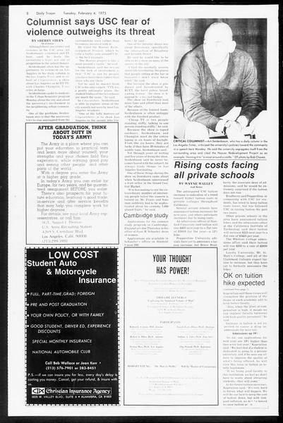 Daily Trojan, Vol. 67, No. 66, February 04, 1975