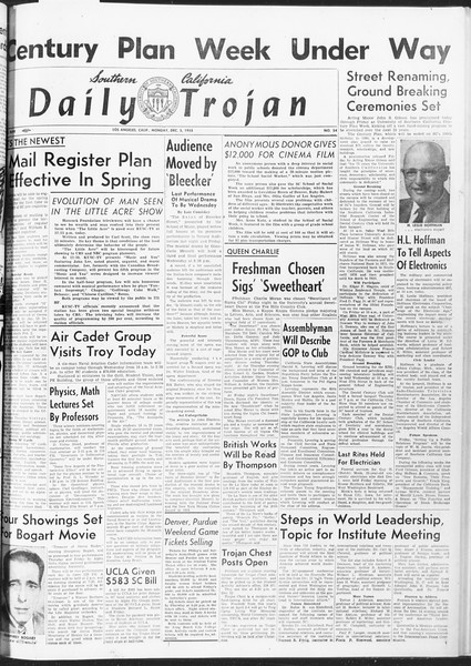 Daily Trojan, Vol. 47, No. 54, December 05, 1955