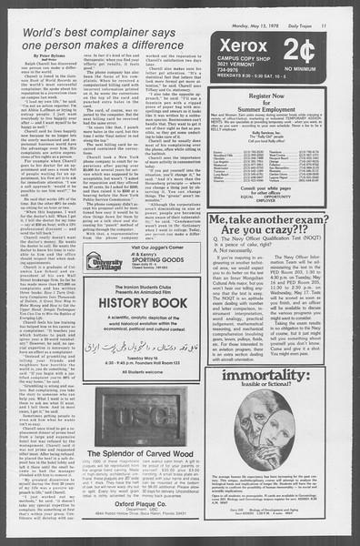 Daily Trojan, Vol. 73, No. 60, May 15, 1978