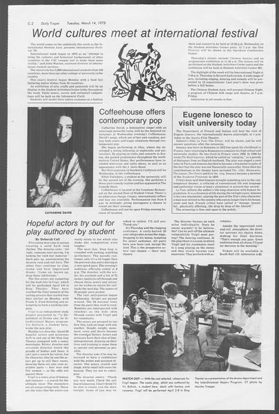 Daily Trojan, Vol. 73, No. 24, March 14, 1978