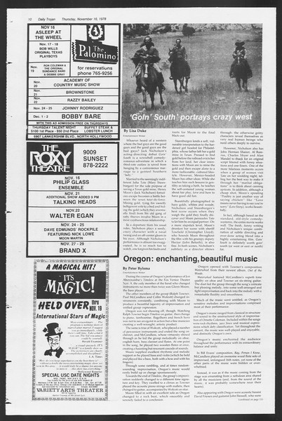 Daily Trojan, Vol. 75, No. 39, November 16, 1978