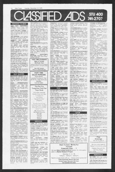 Daily Trojan, Vol. 75, No. 53, December 12, 1978