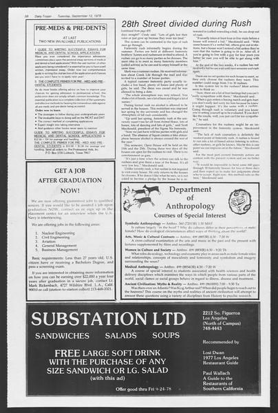 Daily Trojan, Vol. 75, No. 1, September 12, 1978