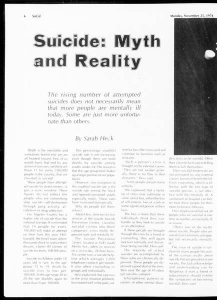 SoCal, Vol. 67, No. 48, November 25, 1974