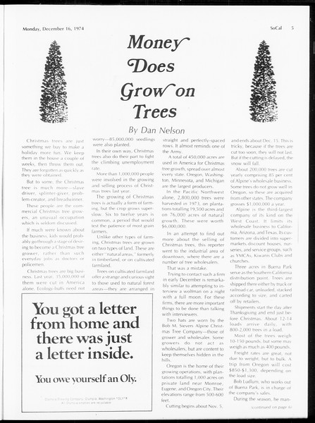 SoCal, Vol. 67, No. 59, December 16, 1974