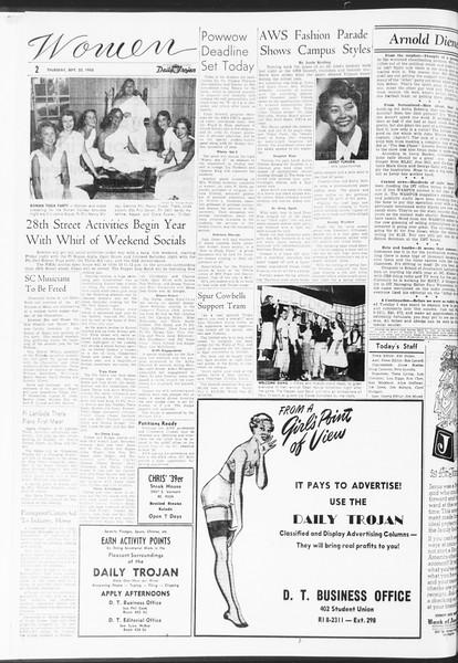 Daily Trojan, Vol. 47, No. 5, September 22, 1955