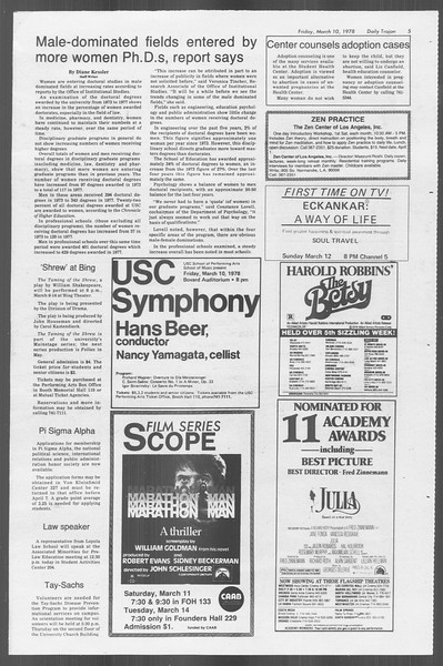Daily Trojan, Vol. 73, No. 22, March 10, 1978