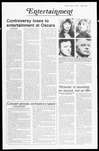 Daily Trojan, Vol. 66, No. 105, April 04, 1974