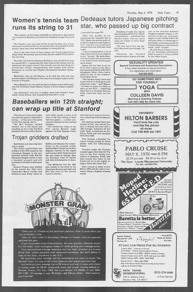 Daily Trojan, Vol. 73, No. 54, May 04, 1978