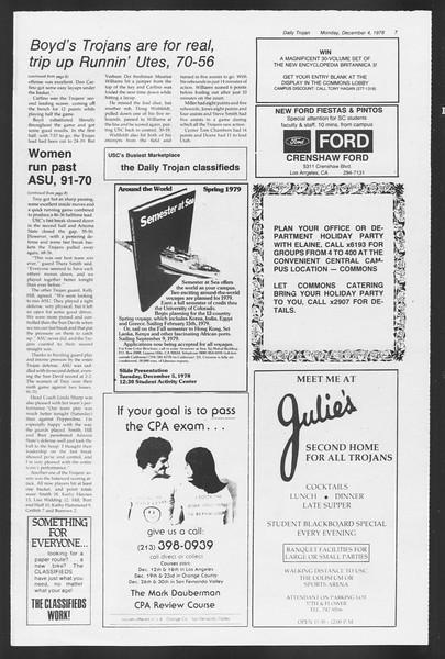 Daily Trojan, Vol. 75, No. 47, December 04, 1978