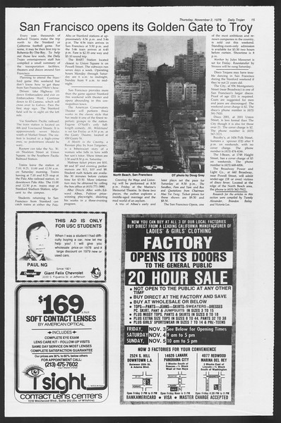 Daily Trojan, Vol. 75, No. 32, November 02, 1978