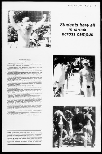 Daily Trojan, Vol. 66, No. 83, March 05, 1974