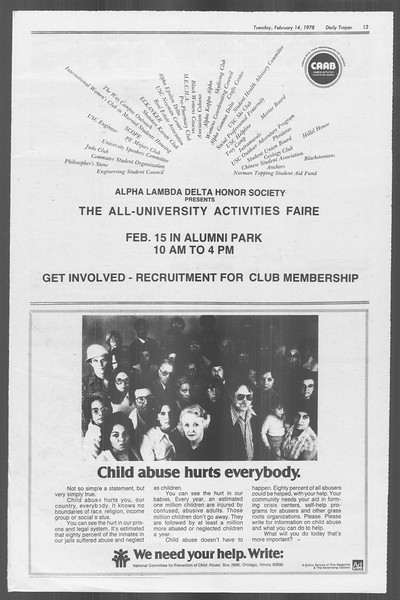 Daily Trojan, Vol. 73, No. 6, February 14, 1978