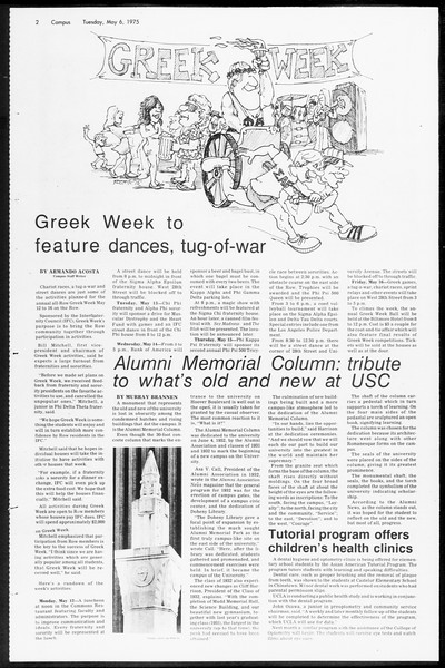Daily Trojan, Vol. 67, No. 122, May 06, 1975