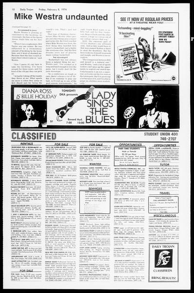 Daily Trojan, Vol. 66, No. 68, February 08, 1974