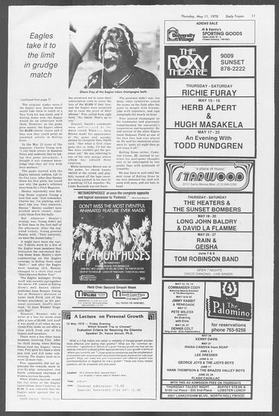 Daily Trojan, Vol. 73, No. 58, May 11, 1978