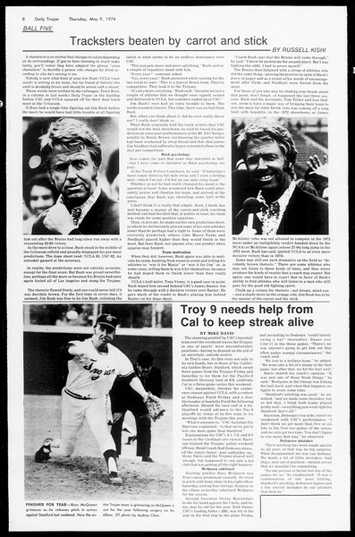Daily Trojan, Vol. 66, No. 123, May 09, 1974
